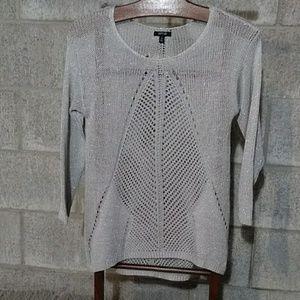 Sparkly Gray Knit Sweater Medium